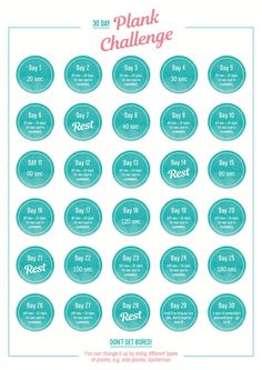 30 Day Plank Challenge - The plank is one of the best exercises that you can do for your core. So weve created a printable 30 Day Plank Challenge to build up your strength! Shake It Up by Cambridge Weight Plan 30 Day Plank Challenge For Beginners, 30 Day Workout Challenge, Workout For Beginners, 6 Pack Abs Workout, Plank Workout, Core Workouts, Losing Weight Tips, Weight Loss, Cambridge Weight Plan