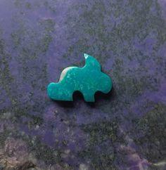 Blue Turquoise Rabbit Cabochon/ backed/ by SaiyoStoneJewelry
