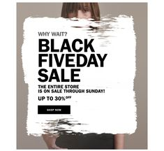 Black Fiveday Sale I like the use of an organic shape to add messaging