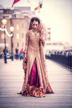Latest Bridal Lehenga: Gorgeous Collection of Photographs of Bridal Couture Absolutely Stunning Pakistani Bride! Latest Bridal Lehenga, Indian Bridal Wear, Pakistani Wedding Dresses, Pakistani Outfits, Indian Dresses, Indian Outfits, Pakistani Couture, Asian Bridal, Desi Bride
