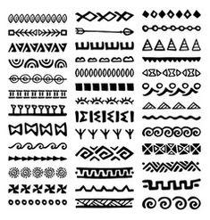 Doodle Patterns, Tribal Patterns, Zentangle Patterns, Zentangles, Arte Tribal, Aztec Art, Mandala Design, Mandala Art, Hand Drawn Border