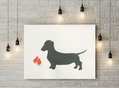 Buy DACHSHUND AND CHICKS-unframed- FREE WORLDWIDE DELIVERY, Screenprint by Emma Evans-Freke on Artfinder. Discover thousands of other original paintings, prints, sculptures and photography from independent artists.