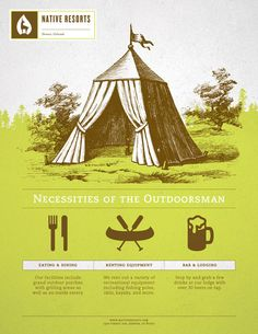 Outdoor camping wedding stationery inspiration