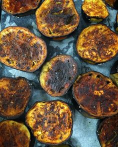 If you could only smell these... Later they'll be dressed with saffron yoghurt…