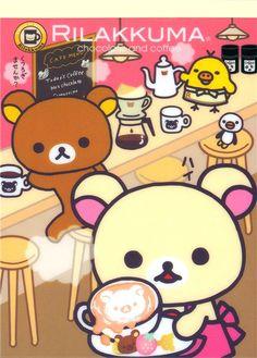 kawaii Rilakkuma in cafe Memo Pad bear coffee
