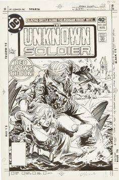 by Joe Kubert Comic Book Pages, Comic Book Artists, Comic Book Covers, Comic Artist, Comic Books Art, War Comics, Horror Comics, Comic Frame, Joe Kubert