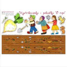 Pohádková vystřihovánka - O veliké řepě Diy And Crafts, Crafts For Kids, Legends And Myths, Educational Activities, Speech And Language, Cute Cartoon, Literacy, Fairy Tales, Kindergarten