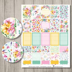 Happy Planner Printable Stickers, Mambi Planner Stickers, Happy Planner Kit, Weekly Planner Printable, Floral Planner Stickers, HP125