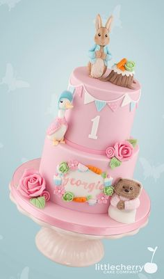 NAAM EN NR EROP LEUK First birthday cake Peter rabbit