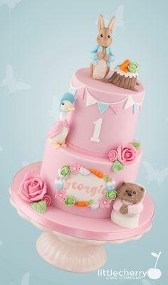 First birthday cake Peter rabbit