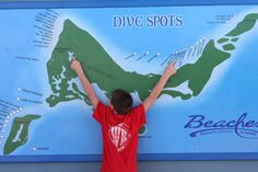 Map of all the dive spots around Turks and Caicos. We stayed at Beaches, and would highly recommend for families. There were lots of kid activities for all ages while also offering the adults something to do in the evening.