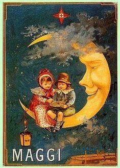 old poster ad for Maggi  by april-mo, via Flickr -bin mit dem Zeug aufgewachsen!