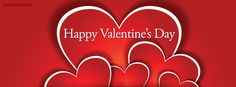 Happy Valentine's Day Hearts Facebook Cover coverlayout.com