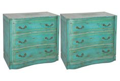 Painted Commodes, Pair