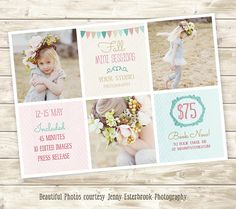 Buy it - Photography Marketing board PSD Template-Fall Mini Sessions - Newsletter template - Mini Sessions