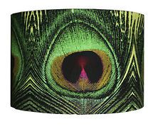 """Green Peacock Feather Bird Printed Lampshade 12"""""""