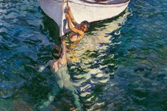 The White Boat (nude boys) : Joaquin Sorolla y Bastida : circa 1905 Figure Painting, Painting & Drawing, Valencia, Spanish Painters, Art Prints For Sale, Expositions, Art Database, Art Graphique, Claude Monet