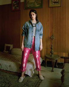 Kavya Trehan, 22, India.  Kayva wears jacket Saint Laurent by Hedi Slimane. Trousers Sanjay Garg.  Photography Bharat Sikka