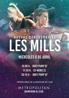 El próximo miércoles, 6 de abril, presentaremos de las nuevas coreografías Les Mills en Metropolitan Sagrada Familia.