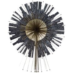 A Rare Aluminium and Brass Wall Sculpture by Curtis Jere | From a unique collection of antique and modern sculptures at http://www.1stdibs.com/furniture/more-furniture-collectibles/sculptures/