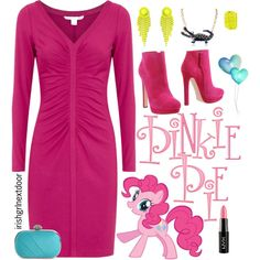 """""""My Little Pony - Pinkie Pie outfit """" by irishgrlnextdoor on Polyvore mlp party"""