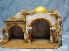 Resultado de imagen para case presepe palestinese Beaded Christmas Ornaments, Handmade Christmas, Christmas Decorations, Christmas Nativity Scene, Ceramic Houses, Christmas Projects, Cribs, Facade, Miniatures