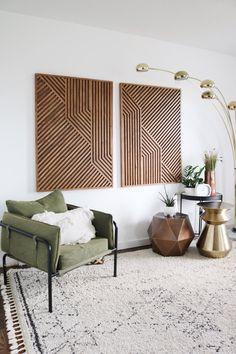 Wall Design, House Design, Muebles Living, Geometric Wall Art, Wood Art, Wall Wood, Wood Wall Art Decor, Modern Wall Art, Modern Wall Lights