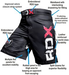 RDX Pro Gel Fight Shorts UFC MMA Grappling Short Boxing
