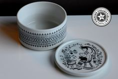 Arabia Emilia purkki 11 cm Savi, Finland, Dishes, Tableware, Design, Corning Glass, Dinnerware, Tablewares, Tablewares