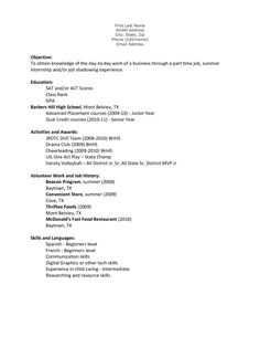 Back Stellar Resume Samples College Example Free Sample Resumes