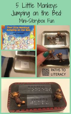 Create a mini storybox using Altoids container!  Use braille for children who are blind or visually impaired.