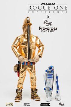 C-3PO und R2D2 als Hipster-Skate-Buddys