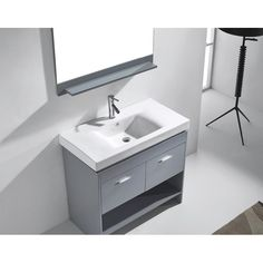 """You'll love the Gloria 35"""" Single Bathroom Vanity Set with Mirror at Wayfair - Great Deals on all Home Improvement  products with Free Shipping on most stuff, even the big stuff."""