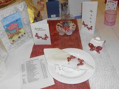 Tischdekoration Schmetterlinge für die Hochzeit, Silber- und Goldhochzeit