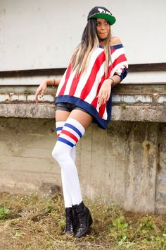 Amy by marco palmer on 500px  #Fashion #Outdoor #Shooting #basecap #beauty #cute #girl #hübsch #schön #stars #stars and stripes #stripes #sweet #us girl #women