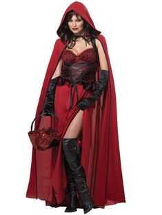 Dark Red Riding Hood - Angels Fancy Dress Costumes