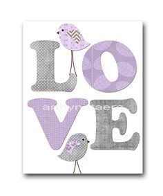 Love Nursery Art for Children Printable Digital Print Baby Girl Nursery Print Digital Download Print 8x10 11X14 INSTANT DOWNLOAD lavender by nataeradownload on Etsy https://www.etsy.com/listing/199891067/love-nursery-art-for-children-printable