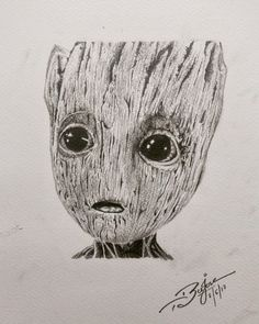 sketch character groot drawings sketches galaxy film drawing pencil avengers realistic uploaded user tryout