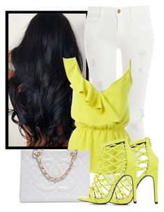 """Untitled #864"" by isror on Polyvore featuring Frame, P.A.R.O.S.H., Charlotte Russe and Chanel"