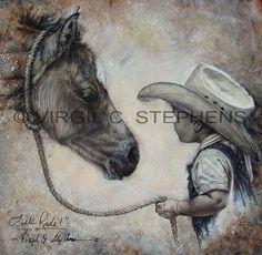 Original artwork, pencil drawings, western, wildlife, & Americana paintings by western artist Virgil C. Horse Drawings, Animal Drawings, Art Drawings, Pencil Drawings, Cowboy Horse, Cowboy Art, Creation Photo, Little Cowboy, Equine Art