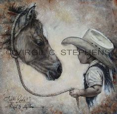 Lets Ride print from my original oil painting of a by notevena, $75.00
