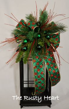 Christmas Lantern Swag by TheRustyHeart on Etsy, $36.99