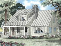 Country House Plan with 1542 Square Feet and 2 Bedrooms from Dream Home Source | House Plan Code DHSW19325