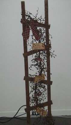 "Image detail for -Primitive country ladder 48"" x 16"" x1"""