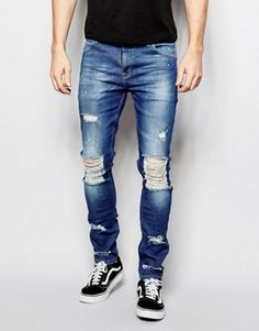 Mens Ripped Jeans | Destroyed & Distressed Jeans | ASOS | jeans ...