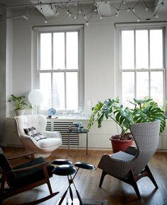 Fra fabrik til luksuriøst loft i New York | Boligmagasinet.dk #interiordecoration #greenhome #plants