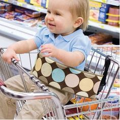 Wrap Strap Shopping Cart Safety Strap, I think I will be making one of these