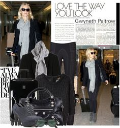 """""""gwyneth airport style"""" by coco92 on Polyvore"""