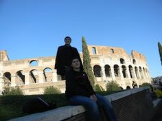 The Boys in Rome at the Colisseum