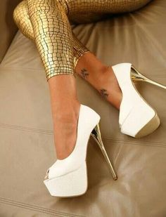 white stiletto high heels pumps women shoes fashion Fast shipping on all latest Asics products Sexy High Heels, Hot Heels, High Heels Stilettos, Peep Toe Heels, Stiletto Heels, Cute Shoes, Me Too Shoes, Awesome Shoes, Zapatos Shoes